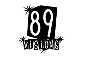 89 Visions was a company I started in college. We started by designing sites for businesses in our town and moved on to building sites for a lot of bands and music businesses in California and NYC. We also sold web-hosting services for unheard of rates at the time - unlimited space and bandwidth for $100 a year. The logo went through many variations over the years, but here is one of my favorites.